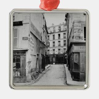 Rue Maitre Albert  Paris, 1858-78 Christmas Ornament