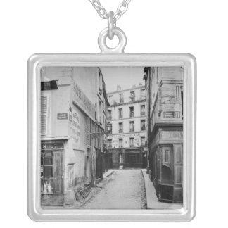 Rue Maitre Albert  Paris, 1858-78 Silver Plated Necklace