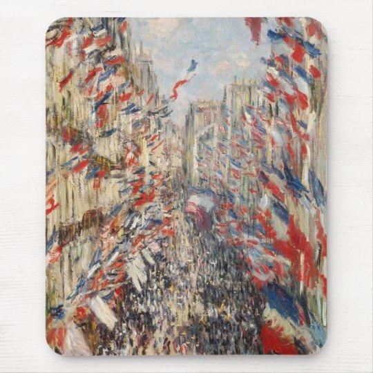 Rue Montorgueil, 30th of June 1878 - Claude Monet Mouse Mat