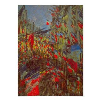 Rue Montorgueil Decked Out w Flags by Claude Monet 13 Cm X 18 Cm Invitation Card