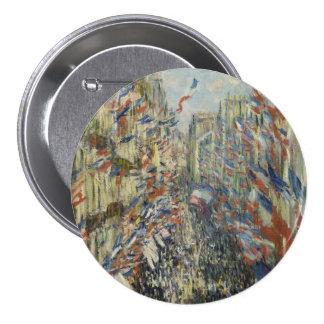 Rue Montorgueil in Paris by Claude Monet 7.5 Cm Round Badge
