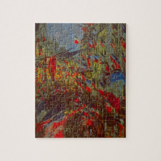 Rue Montorgueil with Flags by Claude Monet Jigsaw