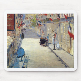 Rue Mosnier decorated with Flags Edouard Mouse Pad
