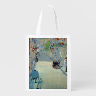 Rue Mosnier with Flags Manet Fine Art Painting