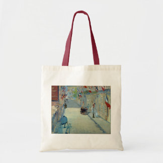 Rue Mosnier with Flags Manet Painting Tote Bag
