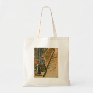 Rue Mossnier with Knife Grinder by Edouard Manet Budget Tote Bag