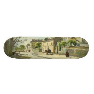 Rue Notre Dame Paris by Johan Barthold Jongkind Skateboard