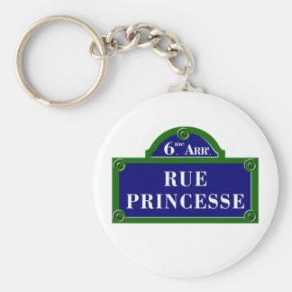 Rue Princesse, Paris Street Sign Keychain