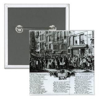 Rue Quinquempoix in 1720 15 Cm Square Badge