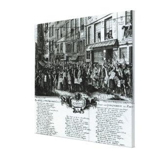 Rue Quinquempoix in 1720 Canvas Print