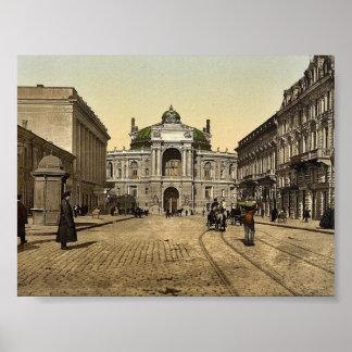 Rue Richelieu, Odessa, Russia, (i.e., Ukraine) cla Poster