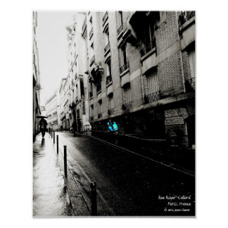 Rue Royer-Collard, Paris France Poster
