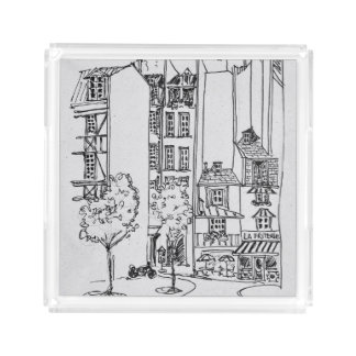Rue Saint-Julien-le-Pauvre | Paris, France Acrylic Tray