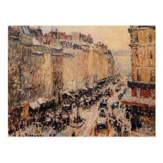 Rue Saint Lazare under Snow by Camille Pissarro Postcard