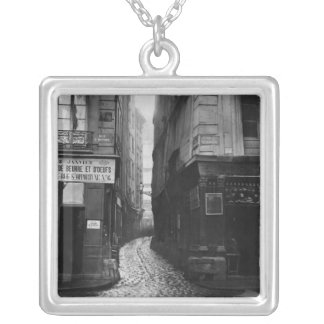 Rue Tirechape, from rue St. Honore, Paris Silver Plated Necklace