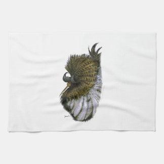 ruff bird, tony fernandes tea towel