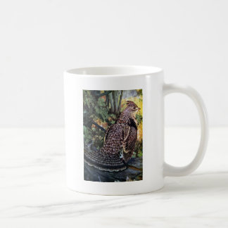 Ruffed Grouse in the Forest Coffee Mugs