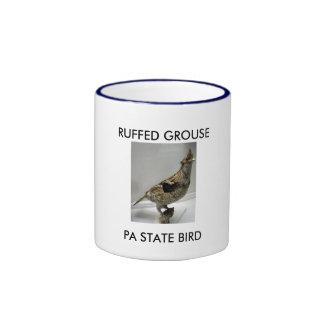 RUFFED GROUSE, PA STATE BIRD MUGS