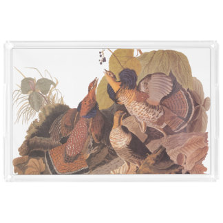 Ruffed Grouse Pheasant Serving Tray