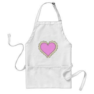 ruffle heart standard apron