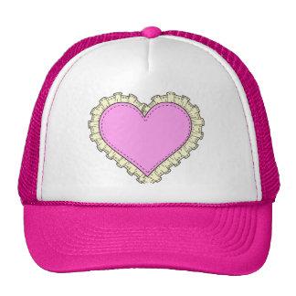 ruffle heart cap