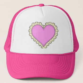 ruffle heart trucker hat