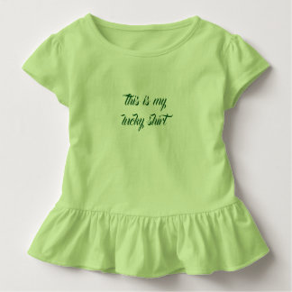 ruffle shirt: this is my lucky shirt