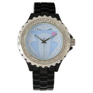 Ruffled Blue 70's Tuxedo Watch