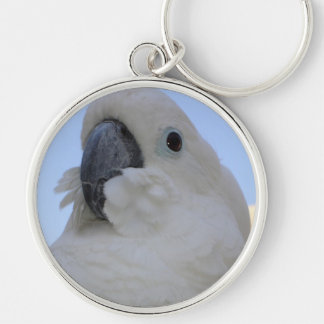 Ruffled Feathers Silver-Colored Round Key Ring