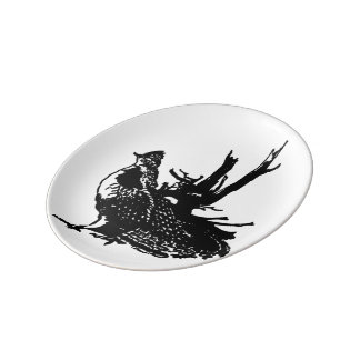 Ruffled Grouse Porcelain Plates