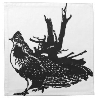 Ruffled Grouse Printed Napkins
