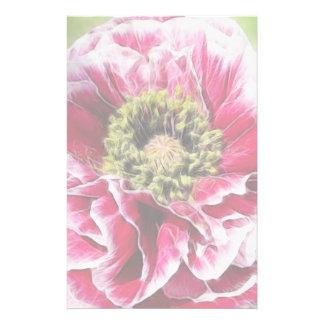Ruffled Poppy - Rich Rose Custom Stationery