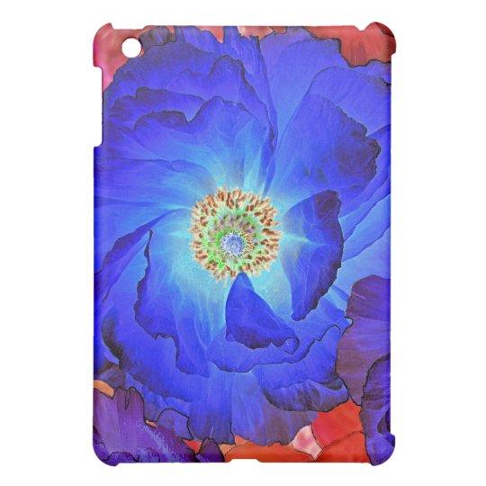 Ruffles Blue Poppy Art iPad Mini Case