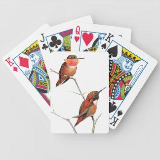 Rufous Hummingbird Birds Wildlife Playing Cards