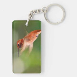 rufous hummingbird Double-Sided rectangular acrylic key ring