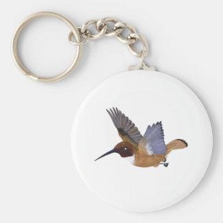 Rufous Hummingbird Male Basic Round Button Key Ring
