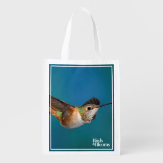 Rufous Hummingbird Reusable Grocery Bag