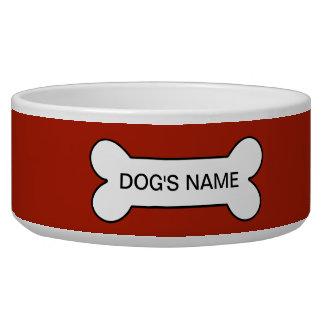 Rufous Upscale Monochrome Pet Food Bowls