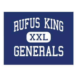 Rufus King - Generals - High - Milwaukee Wisconsin Postcard