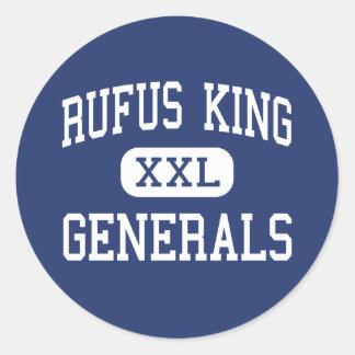 Rufus King - Generals - High - Milwaukee Wisconsin Round Sticker