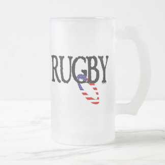 Rugby - Americana Frosted Glass Mug