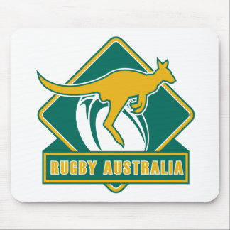 rugby australia kangaroo wallaby mouse mat