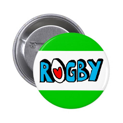 RUGBY BADGE OR BUTTON