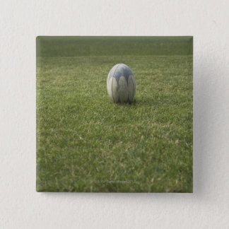 Rugby ball 15 cm square badge