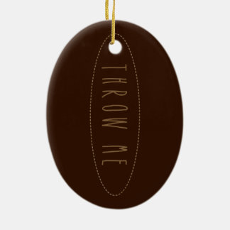 Rugby Ball Christmas Ornament