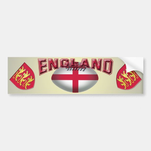 Rugby Ball Flag of England Car Bumper Sticker