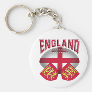 Rugby Ball Flag of England Key Ring
