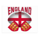 Rugby Ball Flag of England Postcard