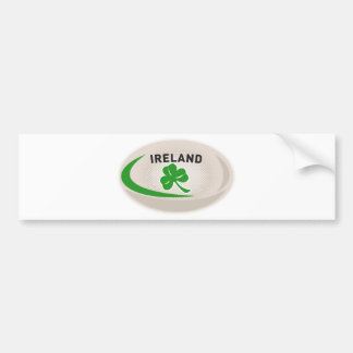 Rugby Ball Ireland Shamrock Bumper Sticker