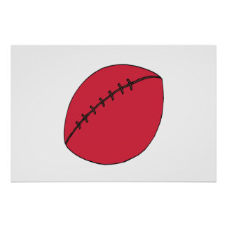 Rugby Ball Print